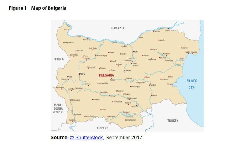 Figure 1 Map of Bulgaria