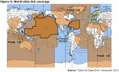 Figure 5: World data link coverage