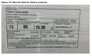 Figure 10: New EU label for fishery products