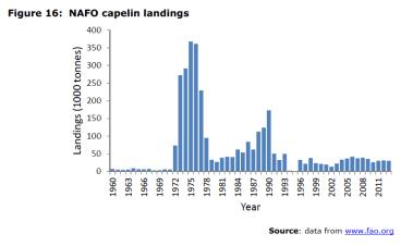 Figure 16 NAFO capelin landings