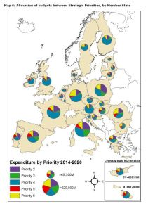 Map 6: Allocation of budgets between Strategic Priorities, by Member State
