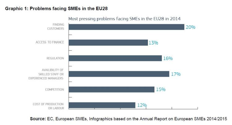 Graphic 1: Problems facing SMEs in the EU28