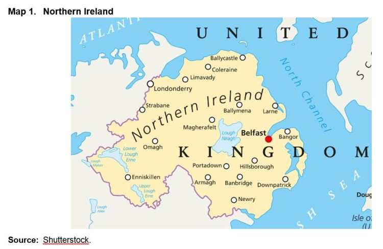 Map Of Northern Ireland And Ireland.The Economic Social And Territorial Situation Of Northern Ireland