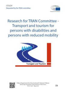 Transport and tourism for persons with disabilities and persons with reduced mobility
