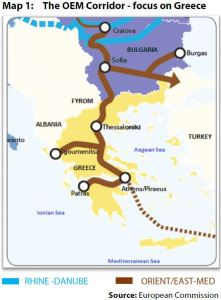 Map 1: The OEM Corridor - focus on Greece