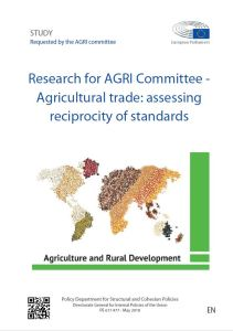 Agricultural trade: assessing reciprocity of standards