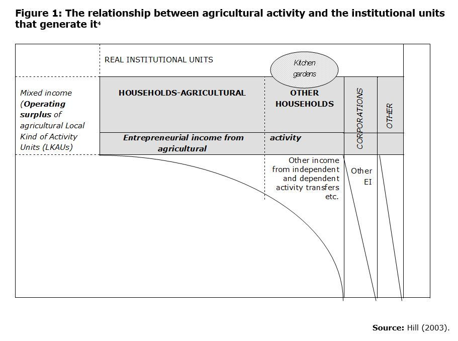 Figure 1: The relationship between agricultural activity and the institutional units that generate it4