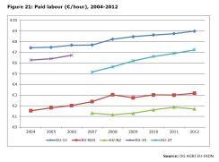 Figure 21: Paid labour (€/hour), 2004-2012