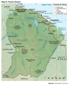 Map 6: French Guiana