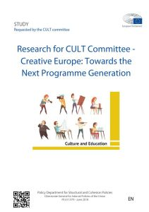 Creative Europe: Towards the Next Programme Generation