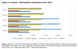 Figure 3: Ireland – fishing fleet composition 2013-2017