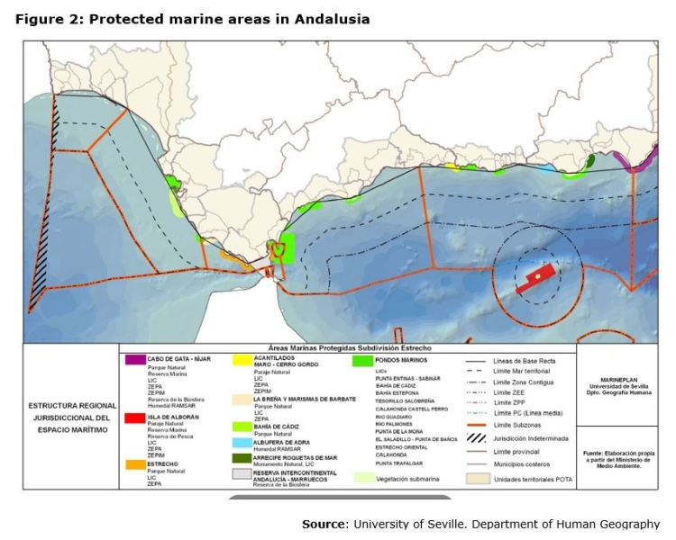 Figure 2: Protected marine areas in Andalusia