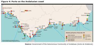 Figure 4: Ports on the Andalusian coast