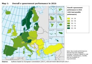 Map 1: Overall e-government performance in 2016.
