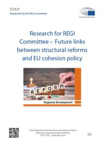 Future links between structural reforms and EU cohesion policy