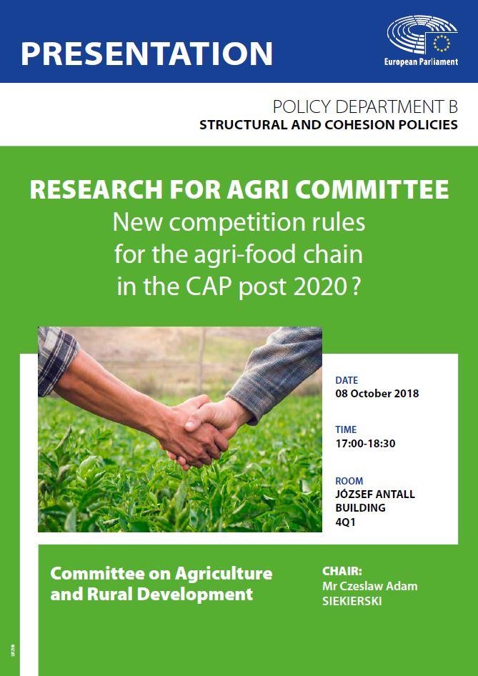 Nouvelles règles de concurrence pour la chaîne agro-alimentaire dans la PAC post 2020