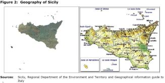 Figure 2: Geography of Sicily