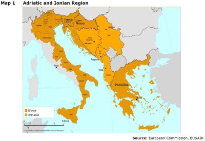 Map 1 Adriatic and Ionian Region
