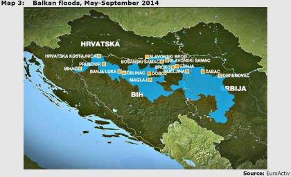 Map 3: Balkan floods, May-September 2014