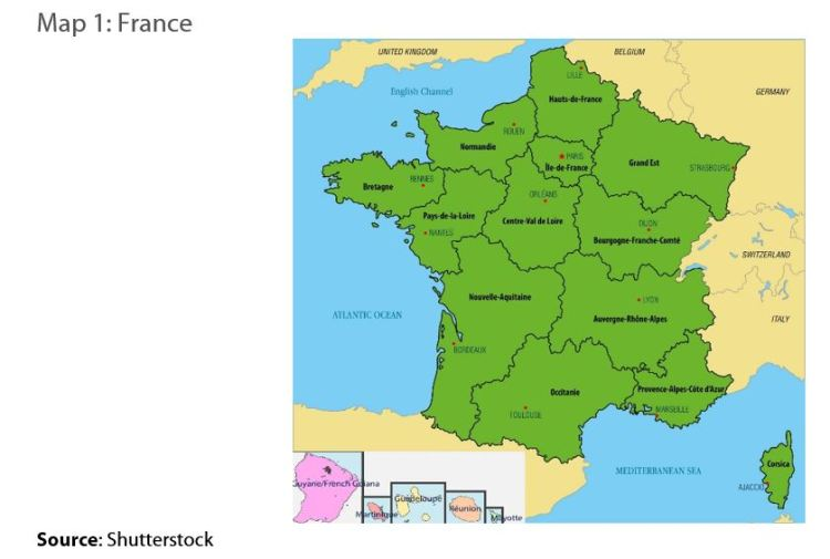 Map 1: France