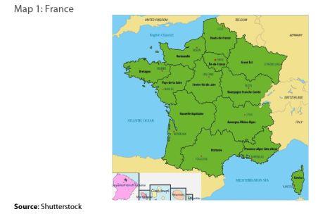 Map 1: France