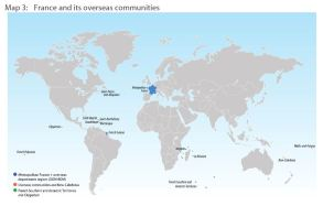 Map 3: France and its overseas communities
