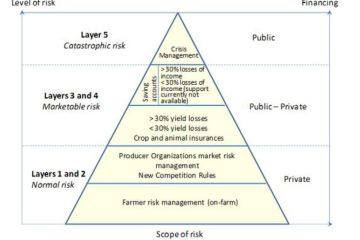 Figure 1. Layering model of agricultural risk management
