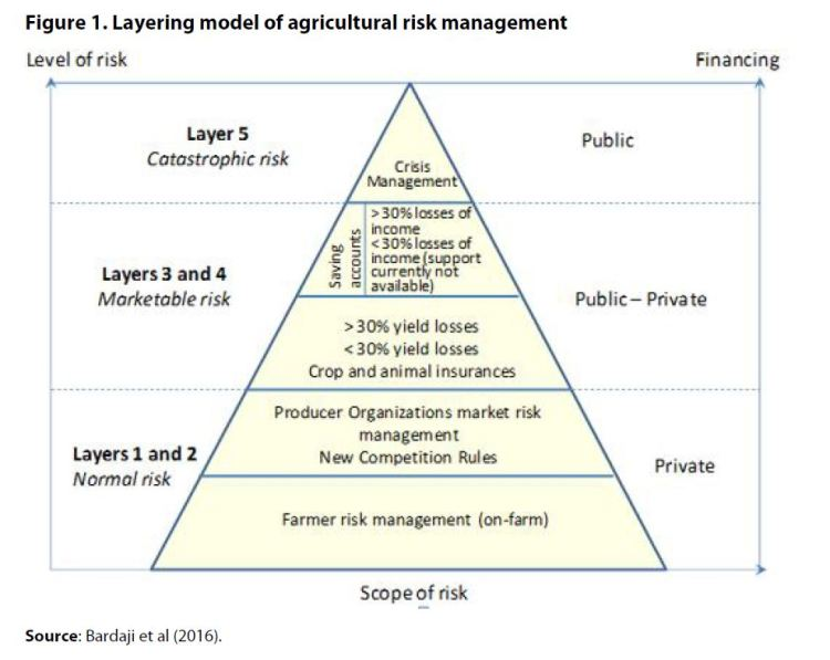 Figure 1. Layering model of agricultural risk management