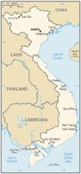 Figure 1: Map of Vietnam