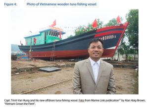Figure 4: Photo of Vietnamese wooden tuna fishing vessel