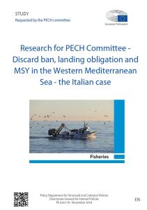 Discard ban, landing obligation and MSY in the Western Mediterranean Sea - the Italian case