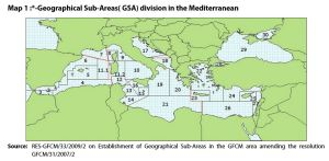 GSA division in the Mediterranean