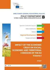 Impact of the Economic Crisis on Social, Economic and Territorial Cohesion of the European Union