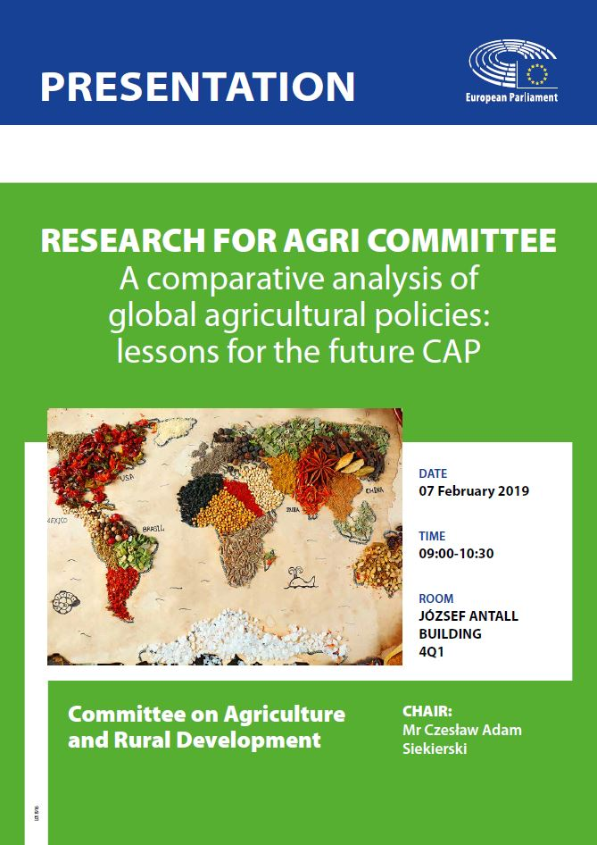 A comparative analysis of global agricultural policies: lessons for the future CAP