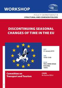 TRAN workshop: Discontinuing seasonal changes of time in the EU