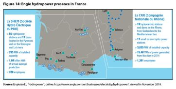 Figure 14: Engie hydropower presence in France