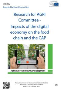 Impacts of the digital economy on the food chain and the CAP