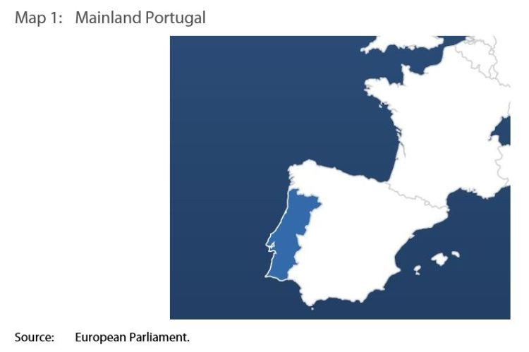Map 1: Mainland Portugal