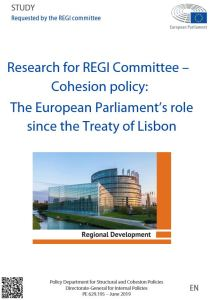 Cohesion policy: The European Parliament's role since the Treaty of Lisbon