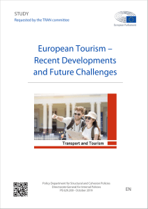 European Tourism – Recent Developments and Future Challenges