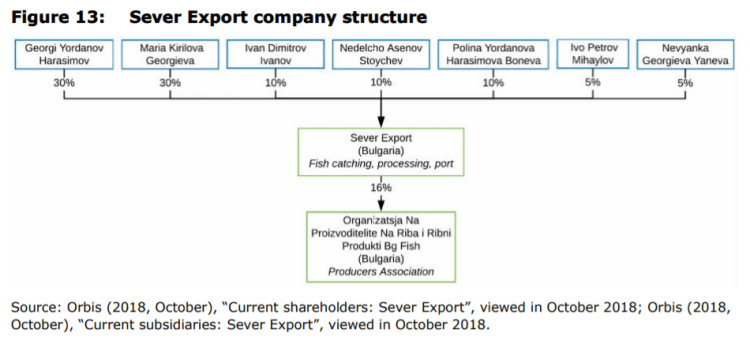Figure 13: Sever Export company structure