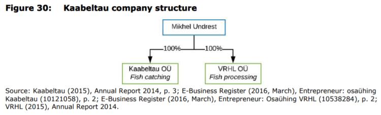 Figure 30: Kaabeltau company structure