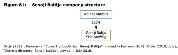 Figure 81: Senoji Baltija company structure