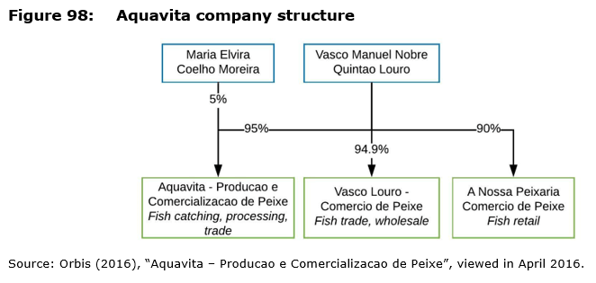 Figure 98: Aquavita company structure