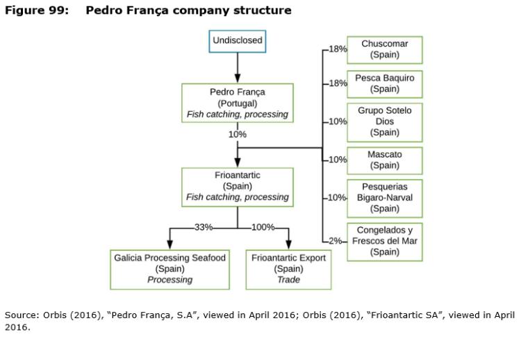Figure 99: Pedro França company structure