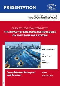 The impact of emerging technologies on the transport system
