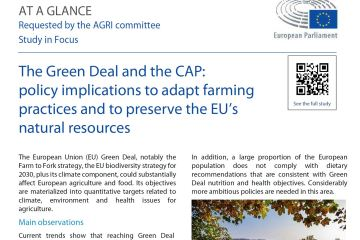 At a glance: The Green Deal and the CAP: policy implications to adapt farming practices and to preserve the EU's natural resources
