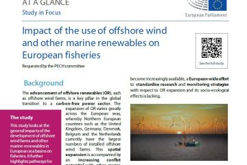 At a glance note: Impact of the use of offshore wind and other marine renewables on European fisheriesCover picture PECH 2020-_048