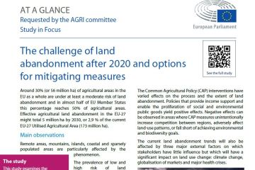 At a glance: The challenge of land abandonment after 2020 and options for mitigating measures