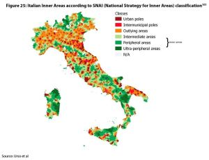 Figure 25: Italian Inner Areas according to SNAI (National Strategy for Inner Areas) classification
